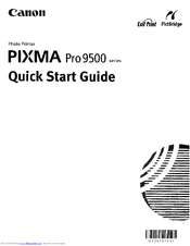 Canon Pixma Pro9500 Series Manuals