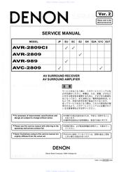 denon avr 289 manuals rh manualslib com denon avr 2802 notice denon avr 2802 manual download