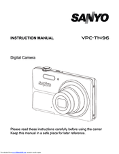 sanyo vpc t1496 manuals rh manualslib com
