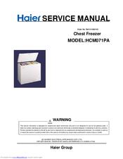 Haier HCM071PA Manuals