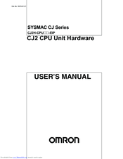 Omron CJ2 - User Manual
