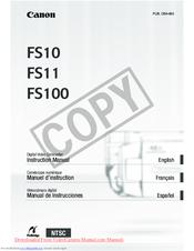 """Laser 8. 5""""x 11"""" canon fs10 fs11 fs100 camcorder camera 110 page."""