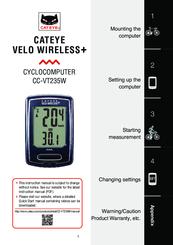 Cateye velo wireless cyclocomputer youtube.
