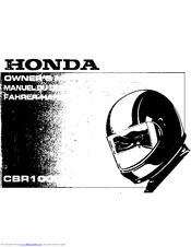 Honda cbr600f1, cbr1000f repair manual 1987-1996 | haynes 1730.
