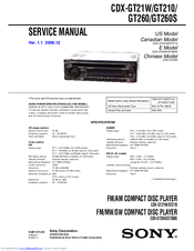 Sony CDX-GT260S Service Manual