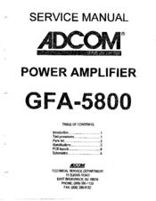 adcom gfa 5800 service manual pdf download rh manualslib com Adcom GFA- 5802 Adcom GFA 6000