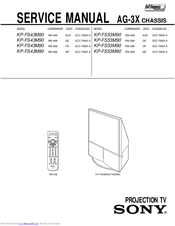 Sony KP-FS43M90 Service Manual