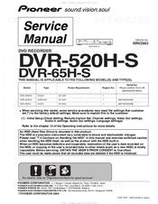 pioneer dvr 65h s manuals rh manualslib com pioneer dvr manual pioneer dvr 530h manual