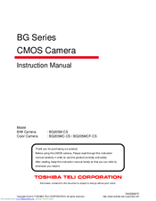 Toshiba BG205MC-CS Instruction Manual