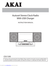 Akai CEU1300 Instruction Manual