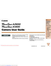 Canon PowerShot A1400 User Manual