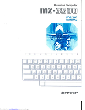 Sharp MZ-3500 Manual For Use
