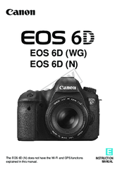 Canon EOS 6D Instruction Manual