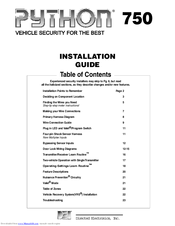 python 750 manuals rh manualslib com Quick Installation Guide Garage Door Installation Manual