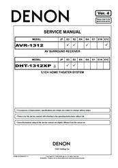 denon avr 1312 manuals rh manualslib com Denon Instruction Manual Denon Exercise Freaks Manuals