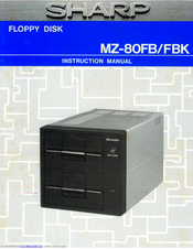 Sharp MZ-80FB Instruction Manual