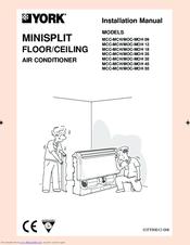 york mcc mch 09 installation manual pdf download rh manualslib com york air conditioner manual troubleshooting york air conditioner manual malaysia