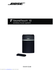 bose soundtouch 10 owner s manual pdf download rh manualslib com Bose SoundLink SoundTouch Bose 10