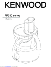 kenwood fp580 series instruction manual pdf download rh manualslib com kenwood food processor manual kenwood food processor fp180 manual