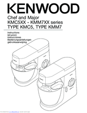 Kenwood Chef and Major KMC5XX series Instructions Manual