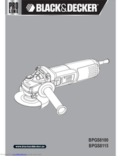 Black & Decker BPGS8115 User Manual