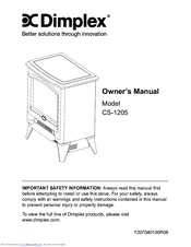 Dimplex ELECTRALOG CS1205 Owner's Manual