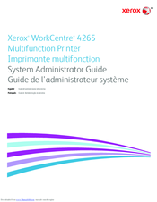 Xerox WorkCentre 4265 System Administrator Manual