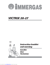 Immergas VICTRIX ZEUS 27 Manuals