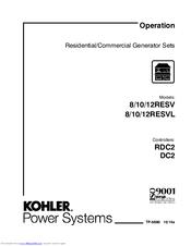 Kohler 12RESV Manuals