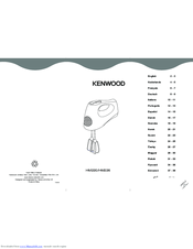 Kenwood HM 220 Instructions Manual