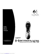logitech harmony 670 manuals rh manualslib com Logitech Harmony 700 Remote logitech harmony 670 remote control manual