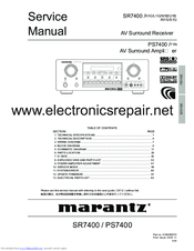 marantz sr7400 service manual pdf download rh manualslib com marantz sr7400 service manual Marantz SR-7200