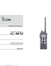icom ic m72 manuals rh manualslib com icom ic-m34 owners manual Icom Manuals PDF
