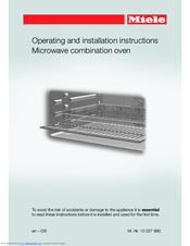 Manuals And User Guides For Miele H6200bm We Have 2 Available Free Pdf Operating Installation Instructions