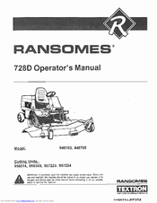 ransomes 728d 946703 owner s manual pdf download rh manualslib com ransomes 728d parts manual Ransome 728D Parts