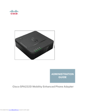 Cisco SPA232D Administration Manual