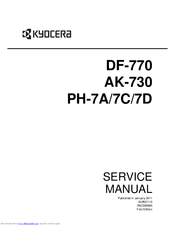 kyocera df 780 df 780 b service repair manual parts list