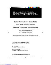 emerson research ic200 owner s manual pdf download rh manualslib com Emerson iTone IC200 IC200 Specs