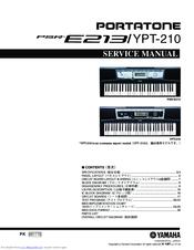Yamaha PSR-E213 Service Manual
