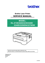 Brother HL-2220 Service Manual