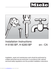 Miele H 6280 BP Installation Instructions Manual