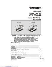Panasonic Fv 11vh2 Manuals Manualslib