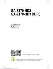 gigabyte ga h170 hd3 manuals rh manualslib com gigabyte b250m-ds3h user manual gigabyte motherboard manual