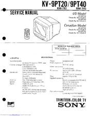 sony kv 9pt40 manuals rh manualslib com Auto Repair Manual Owner's Manual