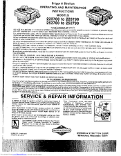 briggs and stratton instruction manual