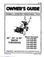 mtd 319 550 000 manuals rh manualslib com mtd 5/24 snowblower parts MTD Snowblower Parts Diagram