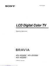 sony bravia kdl 40s2000 manuals rh manualslib com Sony KDL 40S2000 Balancer sony bravia kdl 40s2000 repair manual