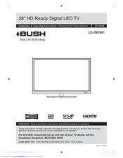 bush le 28gx01 manuals rh manualslib com bush tv lcd40883f1080p manual bush tv dled32165hd manual