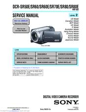 Sony    Handycam    DCRSR80 Manuals