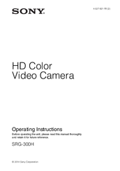 Sony SRG300H Operating Instructions Manual